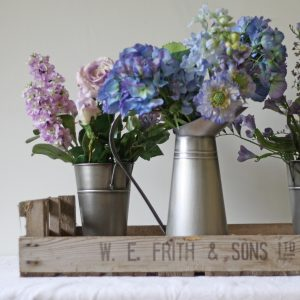 Vintage Rustic Wooden Fruit Crate Tray