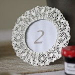 lace Photo Frame Wedding Table Number