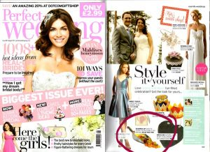 perfect wedding magazine featuring sweetie scoops
