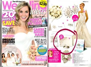 wedding ideas magazine featuring diamond name card holder