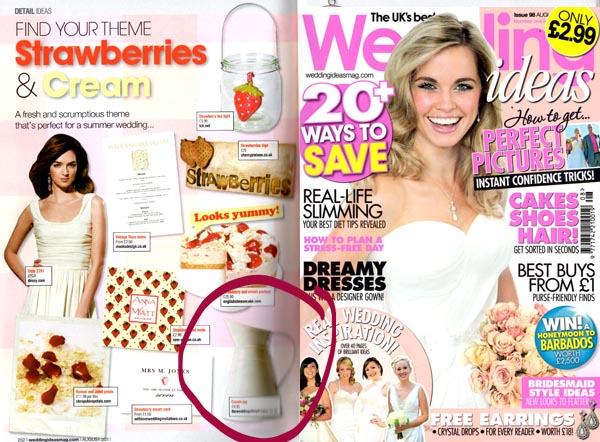 wedding ideas magazine featuring cream jug