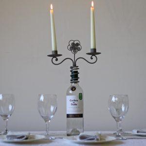 wine bottle cand holder