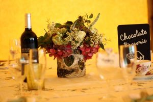 bark vase wedding table decorations