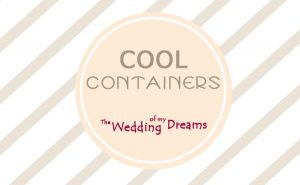 cool containers wedding table decorations