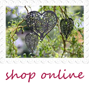 grey vintage hanging heart decorations