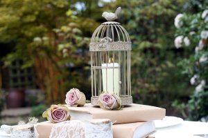 rustic birdcage wedding table decorations