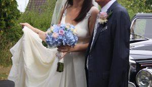 vintage blue pink purple summer wedding