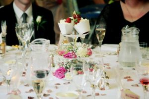 vintage cake stand wedding table decorations