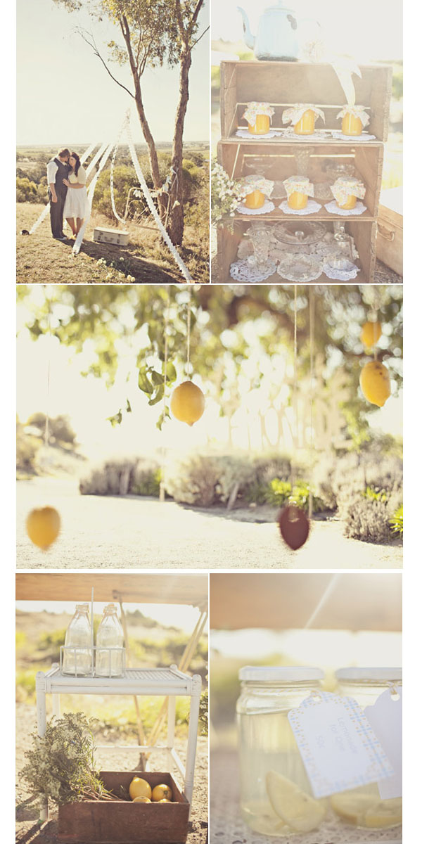 vintage wooden bushel crates wedding styling