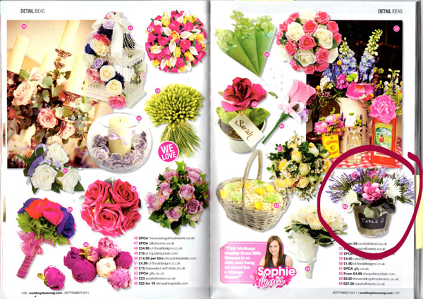 Published Wedding Decorations featured in Wedding Magazines this