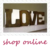 LOVE blocks wedding table decorations