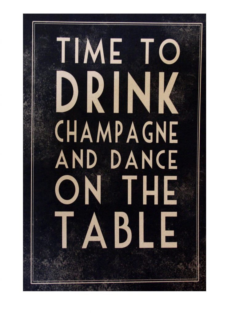 Time to drink champagne unframed print
