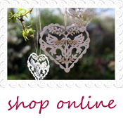 vintage heart hanging wedding decorations