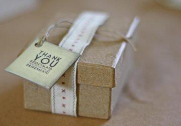Thank You Bridesmaid Gift Tag DIY Wedding