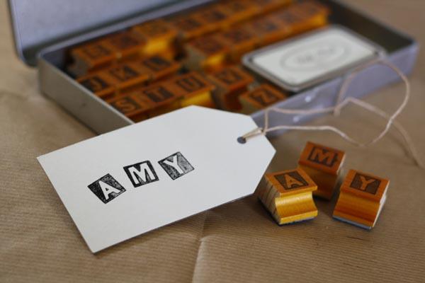 a - z alphabet stamps vintage rubber stamps