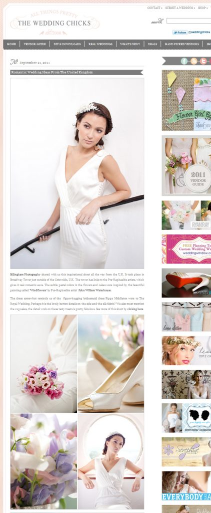 passion for flowers on the wedding chicks blog
