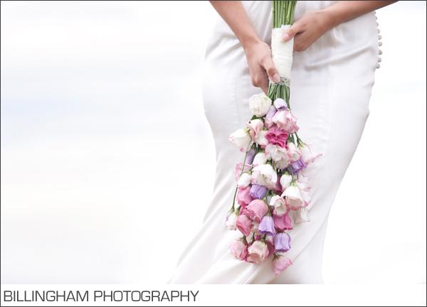 pink purple loose trailing bride bouquet
