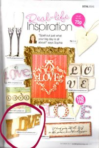 Wedding Ideas Magazine LOVE Sign Gold