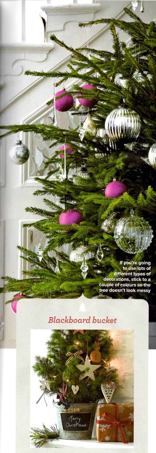 Christmas Tree Blackboard Bucket