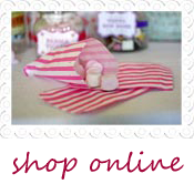 candy pink stripe paper bags