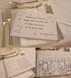 childrens wedding activitiy colouring books