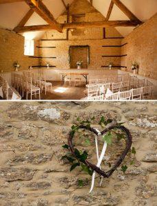 country farm house wedding ceremony decorations
