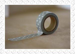 decorative tape grey polka dot