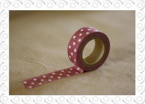 decorative tape red polka dot
