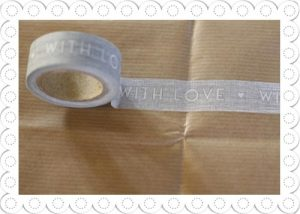 decorative tape with love