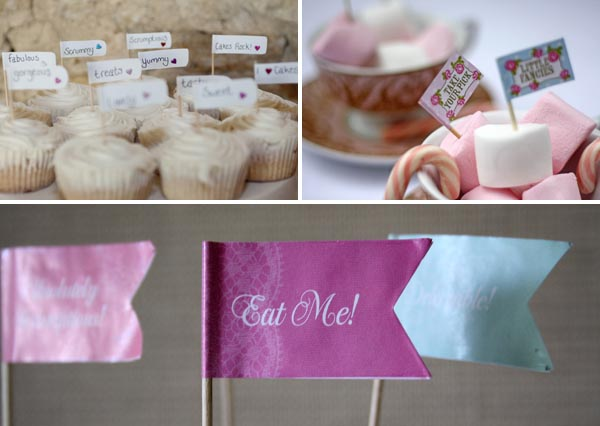 flags for cakes and canapes