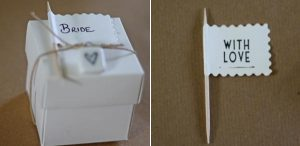 flags personalised wedding favours