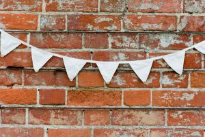 ivory cotton bunting