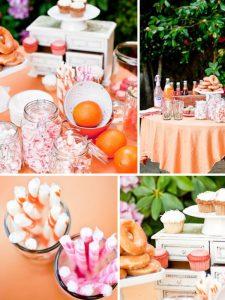 orange candy buffets