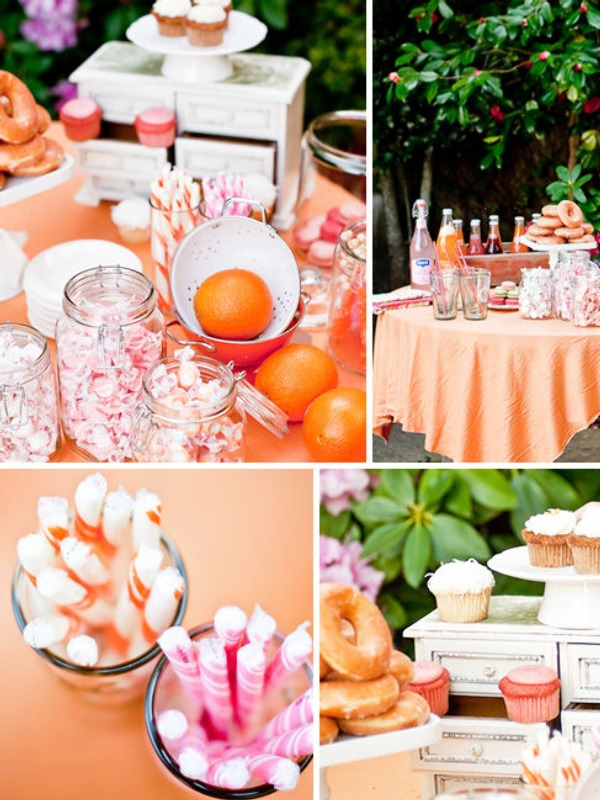 orange candy buffets