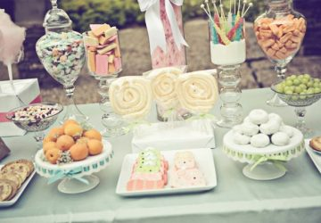 pastel colour sweets for sweetie buffet