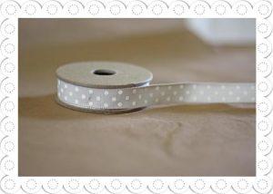 ribbon grey polka dots