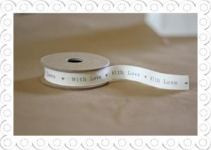 ribbon with love