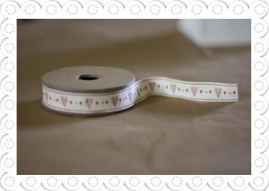 ribbon with red hearts
