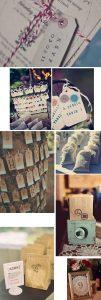 rubber stamps diy wedding decoration ideas
