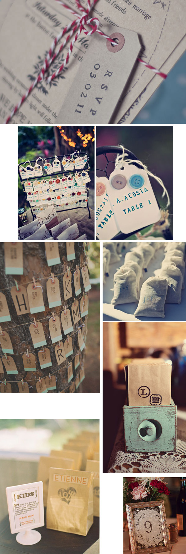 rubber stamps diy wedding decoration ideas