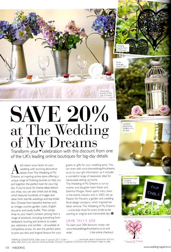 the wedding of my dreams discount code