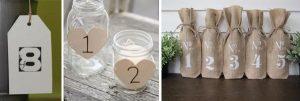 unique DIY wedding table numbers
