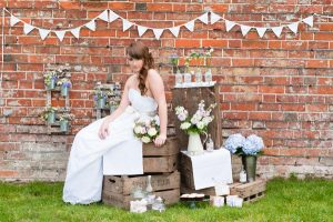 wooden crates stacked up wedding decorations