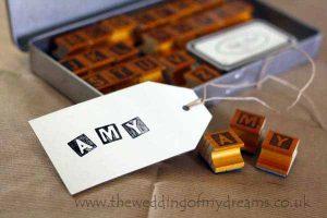 A-Z alphabet stamps