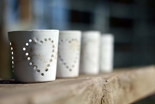 Cream Vintage Country Wedding Tea Light Holders