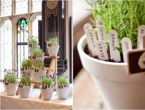 flower pots table plan