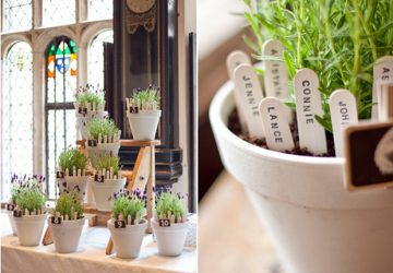 flower pots table plan