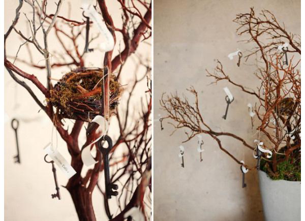 keys wedding decorations wish trees