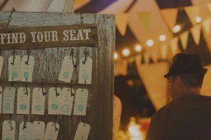 luggage tags keys wedding table plan