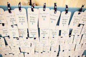 luggage tags wedding table plan